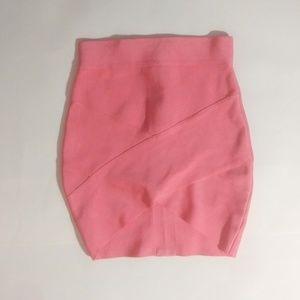 Dresses & Skirts - Pink Bandage Skirt